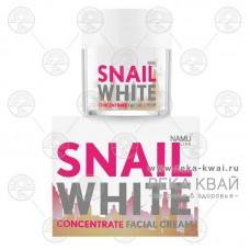 Натуральный концентрированный крем для лица с золотом SNAIL WHITE